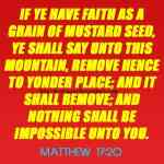 If Ye Have Faith As A Grain Of Mustard Seed Matthew 17-20
