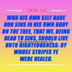Who His Own Self Bare Our Sins 1 Peter 2-24