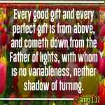 Every Good Gift And Every Perfect Gift Is From Above