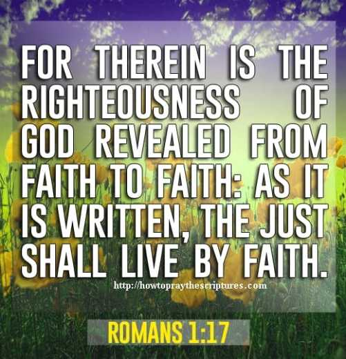 For Therein Is The Righteousness Of God Revealed Romans 1-17