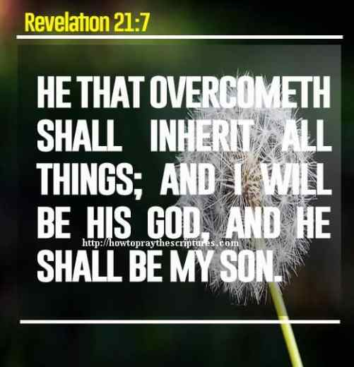 He That Overcometh Shall Inherit All Things Revelation 21-7