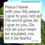 Peace I Leave With You John 14-27