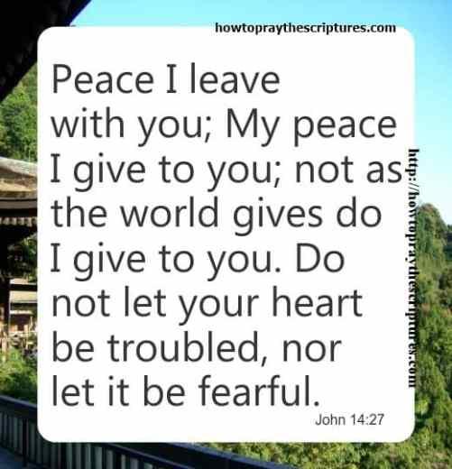 Peace I Leave With You John 14-27