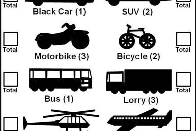 What Vehicle Is That Car Game Score Sheet