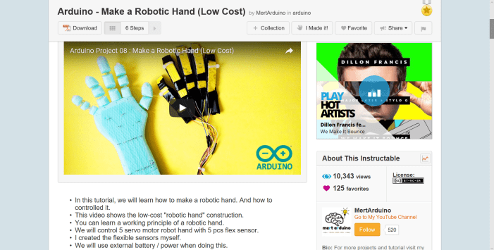 This is an example of the type of Instrucatbles.com project that is a fun project to do with your child. In this case, it involves making a robotic hand.