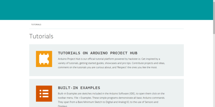 On the Arduino project home page, you can find links to tutorials ad otehr educational resources for learning more about hwo to use their ecosystem to intrpoduce children to coding, programming and electornics in a practical and fun manner.