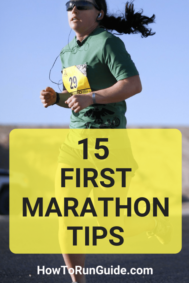 15 First Marathons Tips for newbie marathon runners. Answer all your questions and prepare for your first marathon now. #running #runningtips #marathons #marathontraining