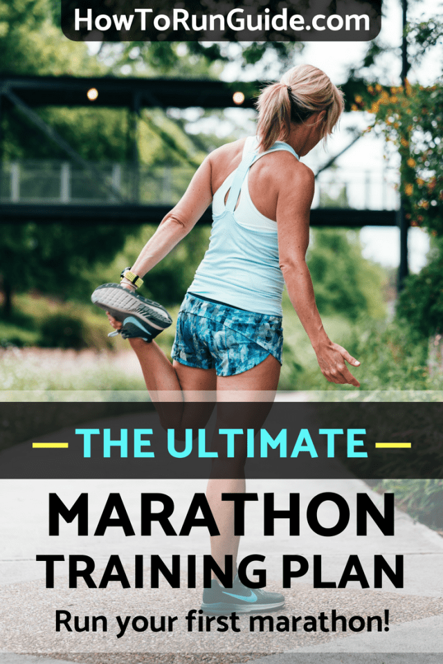 The ultimate marathon training plan for beginners who want to run their first marathon (but aren't sure where to start). #marathon #marathons #running