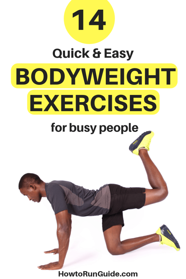Ready to strengthen your abs, legs and arms? Tone up with these quick & easy bodyweight exercises that even busy people can fit in! #exercises #workouts