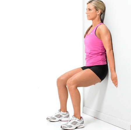Quick Bodyweight Exercises - Wall Sit