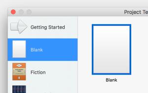scrivener blank option