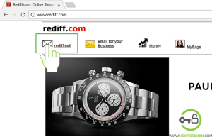 Rediffmail sign up page