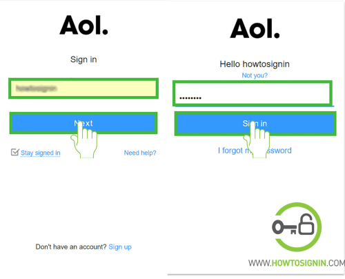 aol sign in page