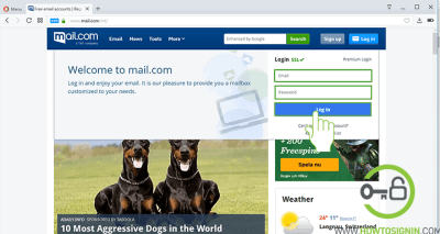 Mail.com Sign in page