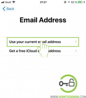 choose email address to sign up for apple id