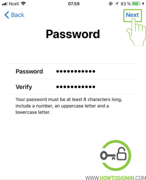create password for new apple id