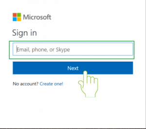 enter your outlook email