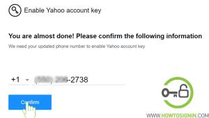 yahoo account key number