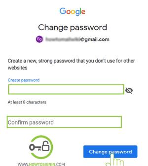 Gmail password reset new password