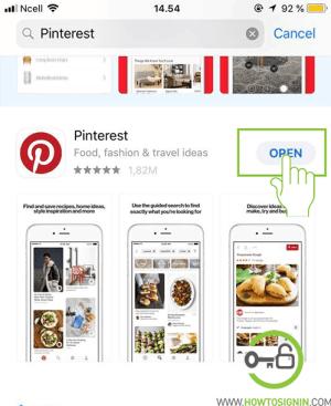 Pinterest App Store download
