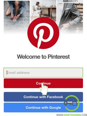 Pinterest mobile sign in