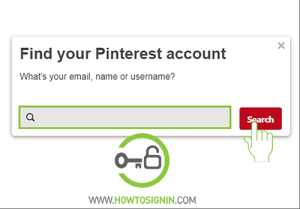 find pinterest account for password rest