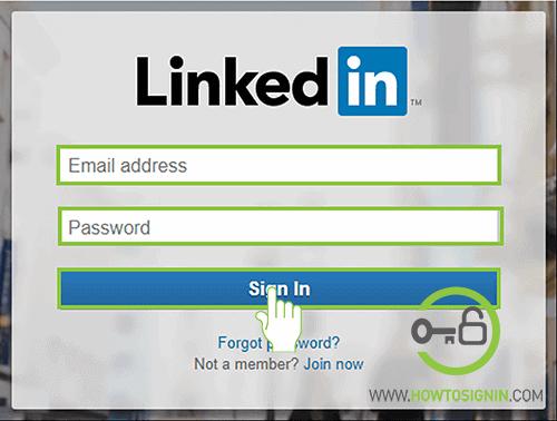 Linkedin login from web