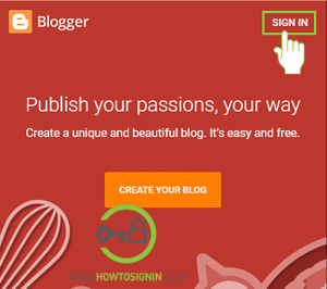blogspot sign in homepage