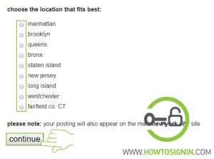 Craiglist location for ad posting