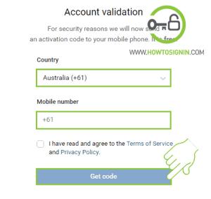 VK mobile verification