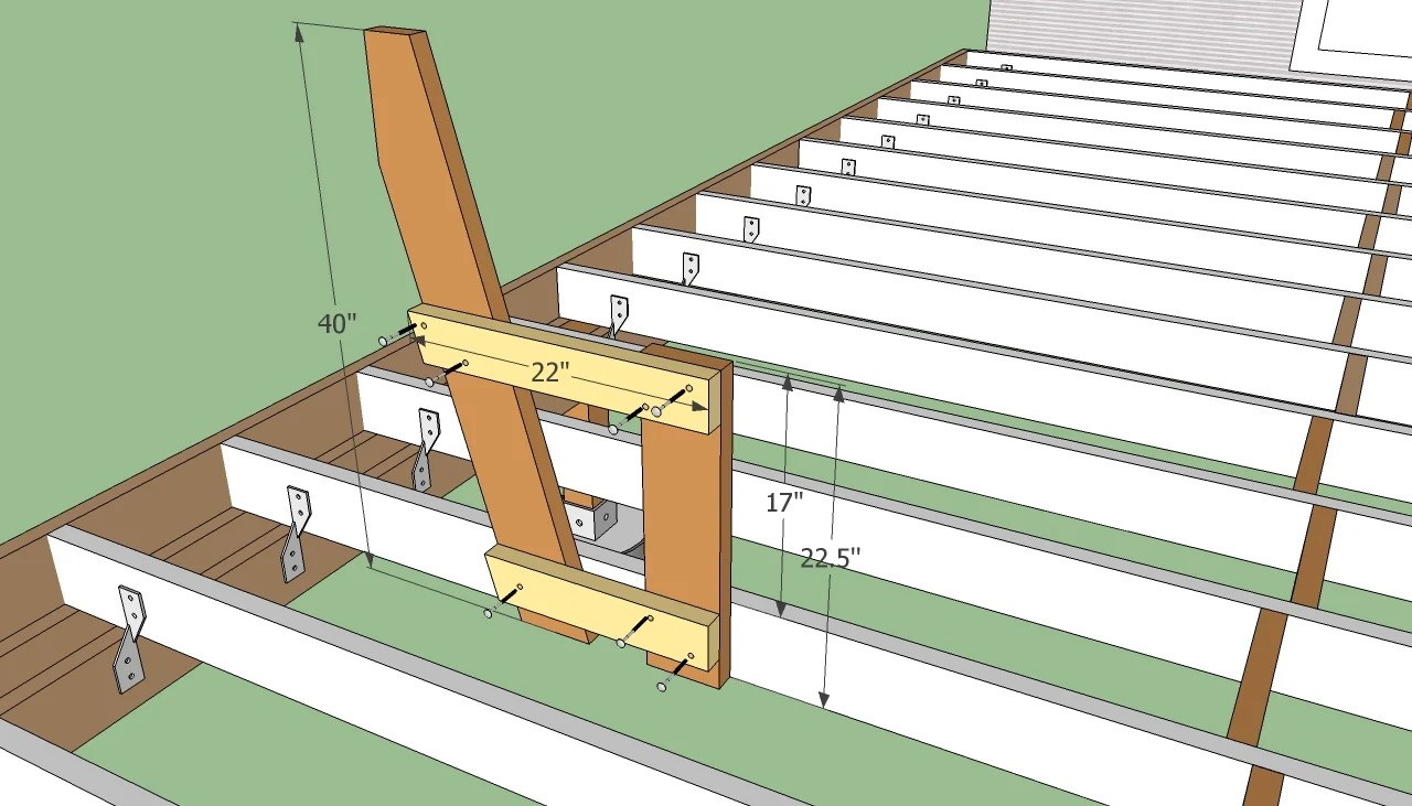 Deck Bench Howtospecialist How To Build Step By Step
