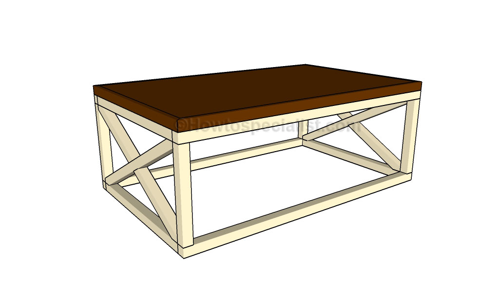 Rustic coffee table plans | HowToSpecialist - How to Build ... on Coffee Table Plans  id=25100