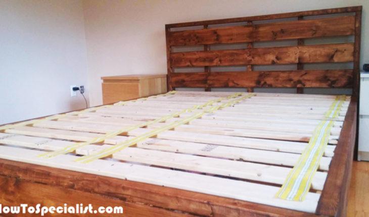 DIY Queen Platform Bed With Headboard