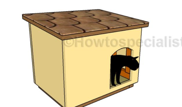 Outdoor Cat House Plans   HowToSpecialist   How to Build  Step by     outdoor cat house plans free