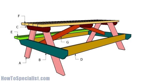 8 Ft Picnic Table Plans Brokeasshome Com