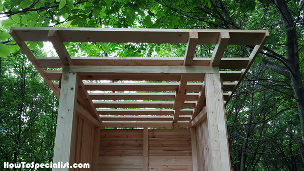 Outhouse-roof-frame