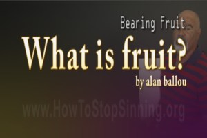 What is bearing fruit according to scripture