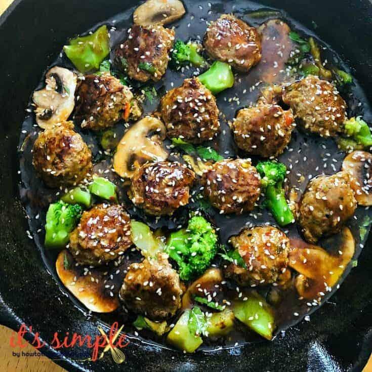 Keto Sesame Chicken Meatballs