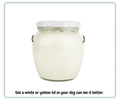White jar with white lid