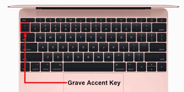 grave accent key on Mac