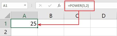 how to type exponents in Excel