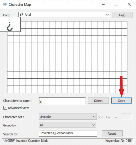 copy and paste upside down question mark symbol