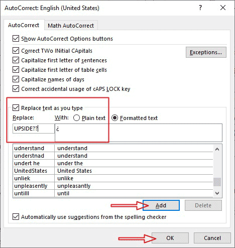 how to type inverted question mark symbol in Word