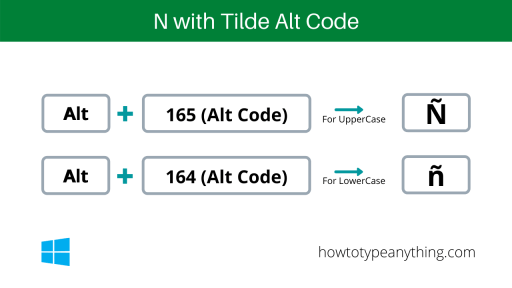 lowercase and uppercase n with tilde alt code