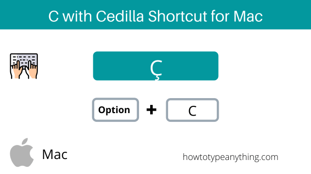 c with cedilla accent shortcut for Mac