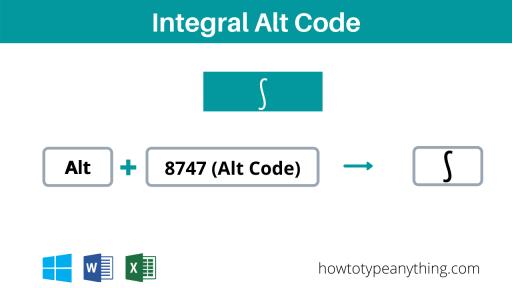 Integral alt code