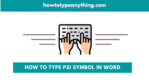 how to type psi symbol in Word