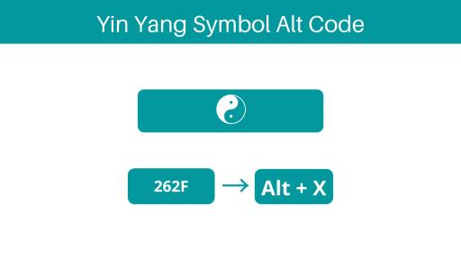 yin yang symbol text keyboard shortcut