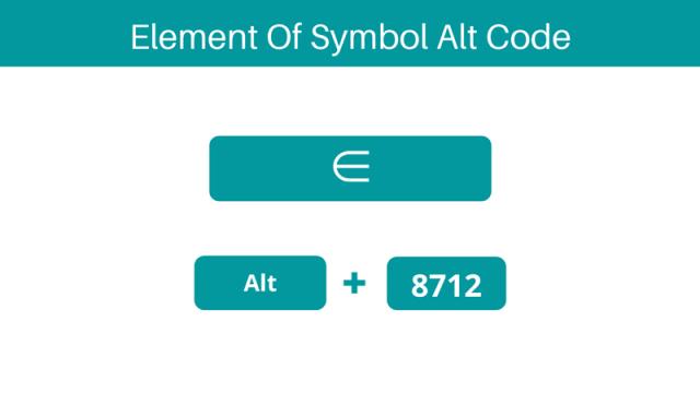 Element of symbol Alt code shortcut on keyboard