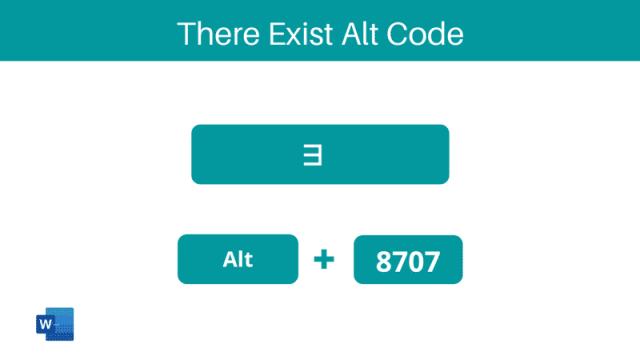 There Exist Symbol Alt code